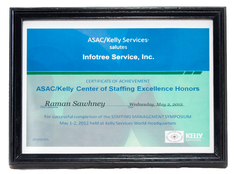 Infotree Global Asac Kelly Award