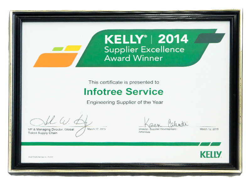 Infotree Global Kelly Awards Supplier