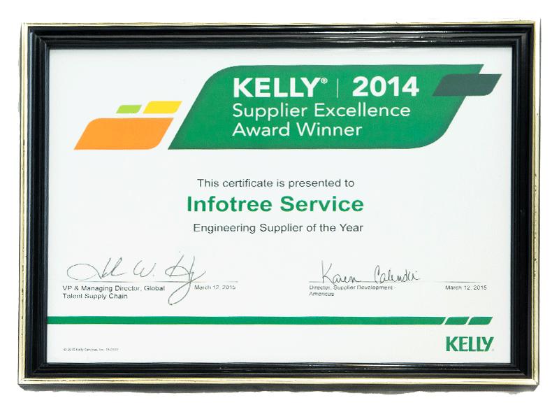 Infotree Global Kelly Awards Supplier